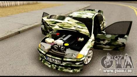 BMW M3 E46 TSK pour GTA San Andreas vue arrière