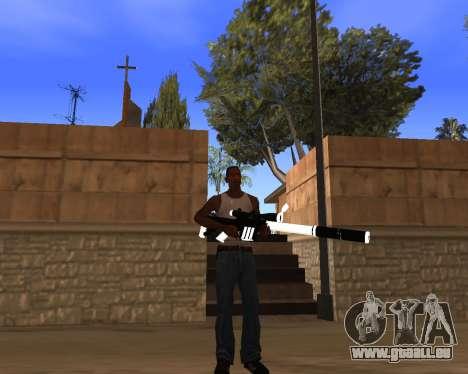 White Chrome Gun Pack pour GTA San Andreas dixième écran