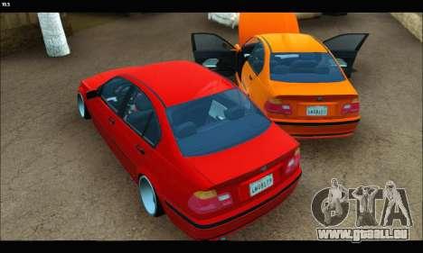 BMW e46 Sedan pour GTA San Andreas vue arrière