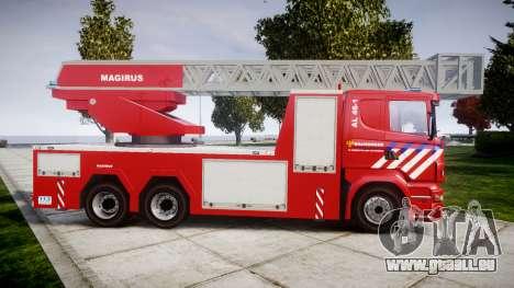 Scania R580 Dutch Fireladder [ELS] pour GTA 4 est une gauche