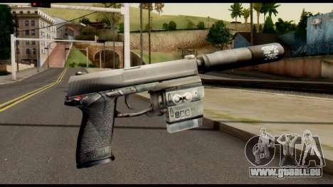 Silenced Socom from Metal Gear Solid pour GTA San Andreas deuxième écran