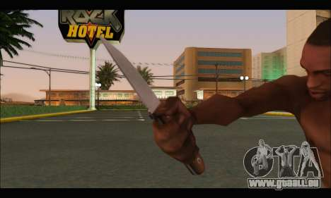 Couteau roumain CR1 pour GTA San Andreas troisième écran