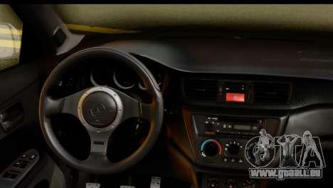 Mitsubishi Lancer Evo IX für GTA San Andreas rechten Ansicht