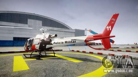 Eurocopter AS350 Ecureuil Aguia 11 PMESP pour GTA 4 est une gauche