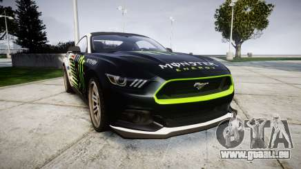Ford Mustang GT 2015 Custom Kit monster energy für GTA 4