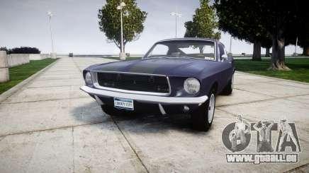 Ford Mustang GT Fastback 1968 Auto Drag III für GTA 4