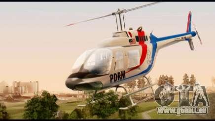 Malaysian Polis Helicopter Eurocopter Squirrel für GTA San Andreas