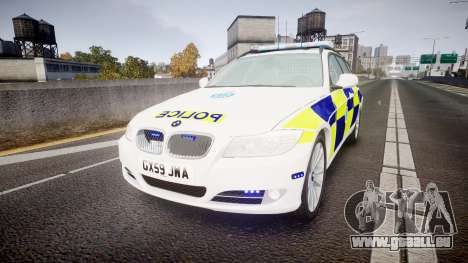 BMW 325d E91 2009 Sussex Police [ELS] pour GTA 4