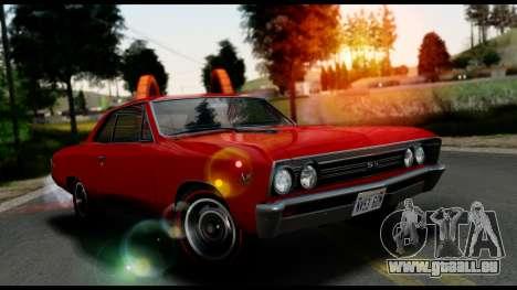 Chevrolet Chevelle SS 396 L78 Hardtop Coupe 1967 pour GTA San Andreas vue arrière