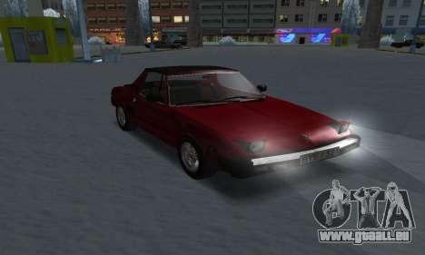 Fiat Bertone X1 9 pour GTA San Andreas