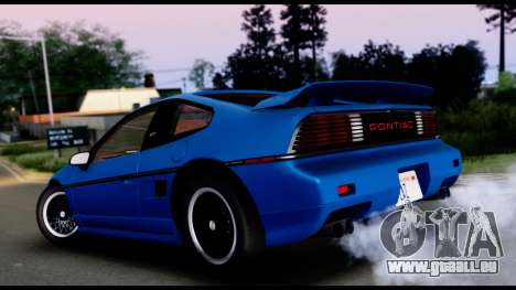 Pontiac Fiero GT G97 1985 IVF pour GTA San Andreas laissé vue