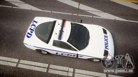 Invetero Coquette Police Interceptor [ELS] für GTA 4 rechte Ansicht