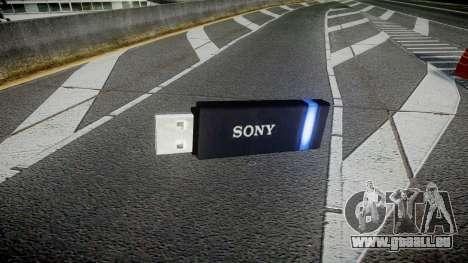 Lecteur flash USB Sony bleu pour GTA 4