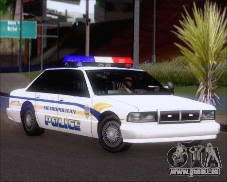 Police LS Metropolitan Police für GTA San Andreas linke Ansicht