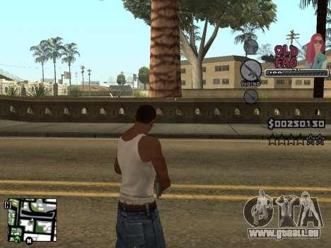 C-HUD Universal v2 pour GTA San Andreas cinquième écran