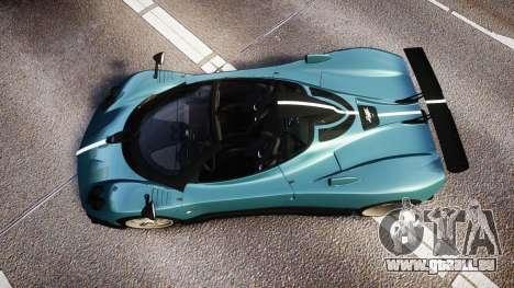 Pagani Zonda Cinque Roadster 2010 pour GTA 4 est un droit