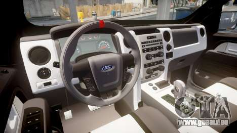 Ford F150 SVT Raptor 2011 Horizon pour GTA 4 Vue arrière