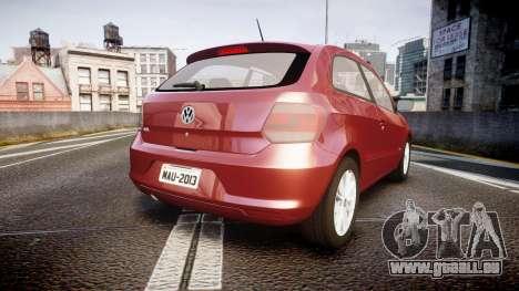 Volkswagen Gol G6 iTrend 2014 rims1 pour GTA 4 Vue arrière de la gauche