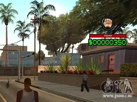 C-HUD by Radion pour GTA San Andreas deuxième écran