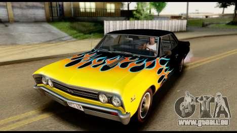Chevrolet Chevelle SS 396 L78 Hardtop Coupe 1967 für GTA San Andreas Unteransicht