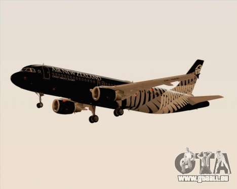 Airbus A320-200 Air New Zealand für GTA San Andreas zurück linke Ansicht