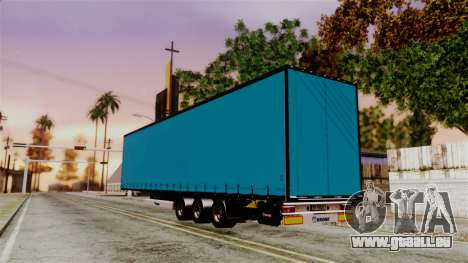 Volvo FH12 Low Deck Trailer für GTA San Andreas zurück linke Ansicht