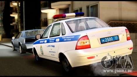 VAZ 2170 LA POLICE DE LA CIRCULATION pour GTA San Andreas