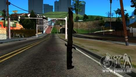 New Knife pour GTA San Andreas deuxième écran