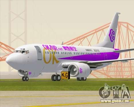 Boeing 737-500 Okay Airways pour GTA San Andreas laissé vue