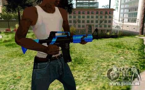 M4 Blue pour GTA San Andreas troisième écran