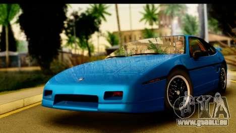 Pontiac Fiero GT G97 1985 IVF für GTA San Andreas zurück linke Ansicht