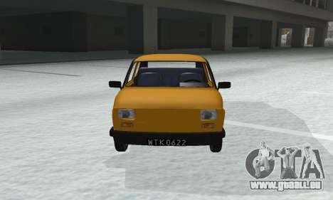 Fiat 126p FL pour GTA San Andreas vue de droite