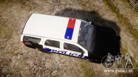 Chevrolet Tahoe 2010 Police Algonquin [ELS] für GTA 4 rechte Ansicht