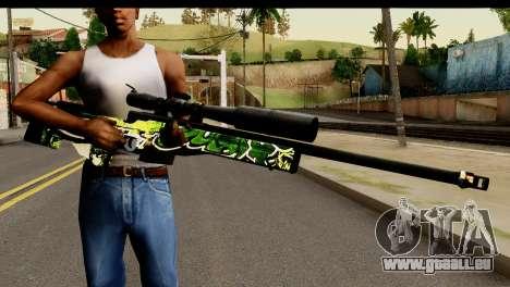 Grafiti Sniper Rifle für GTA San Andreas dritten Screenshot