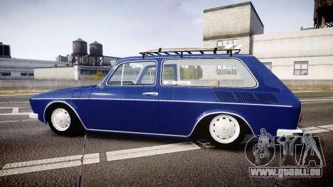 Volkswagen 1600 Variant 1973 für GTA 4 linke Ansicht
