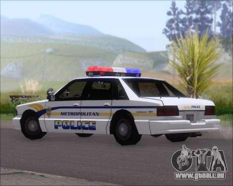 Police LS Metropolitan Police pour GTA San Andreas sur la vue arrière gauche