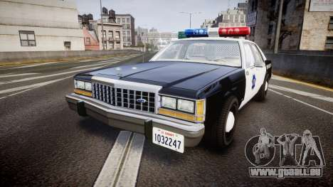 Ford LTD Crown Victoria 1987 LCPD [ELS] pour GTA 4