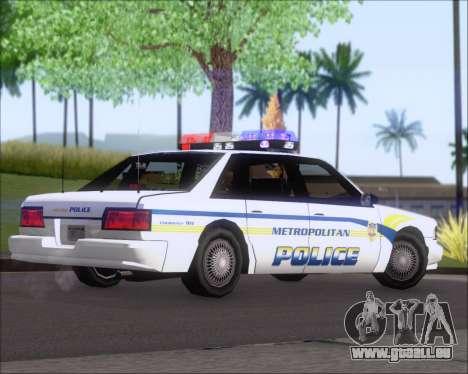 Police LS Metropolitan Police pour GTA San Andreas vue de droite