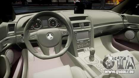 Holden Commodore Omega Queensland Taxi v3.0 für GTA 4 Rückansicht