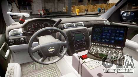 Chevrolet Tahoe 2010 Sheriff Dukes [ELS] für GTA 4 Rückansicht