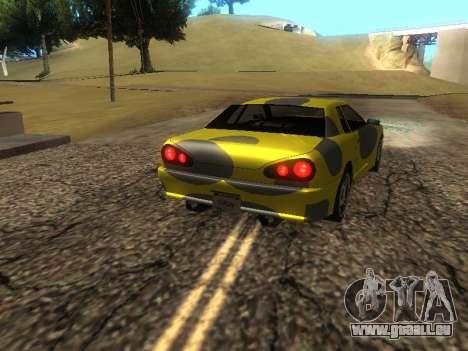 Vinyle Élégie pour GTA San Andreas sur la vue arrière gauche