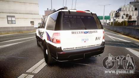 Ford Expedition 2010 Delta Police [ELS] für GTA 4 hinten links Ansicht