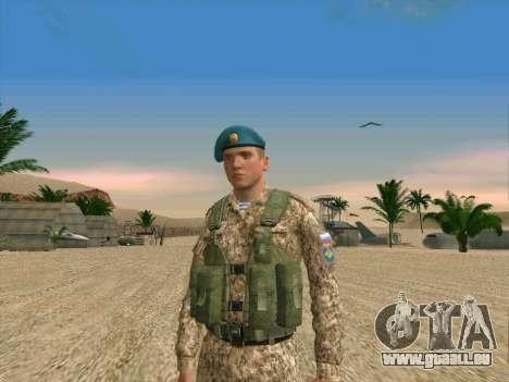 Grenadier VDV pour GTA San Andreas deuxième écran