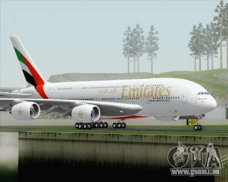 Airbus A380-800 Emirates (A6-EDH) pour GTA San Andreas vue de droite
