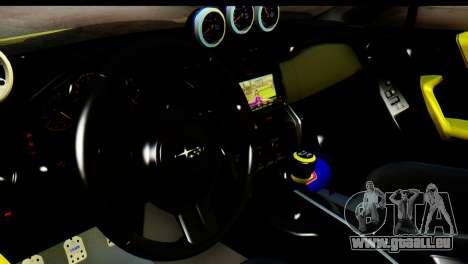 Subaru BRZ 2013 pour GTA San Andreas vue arrière