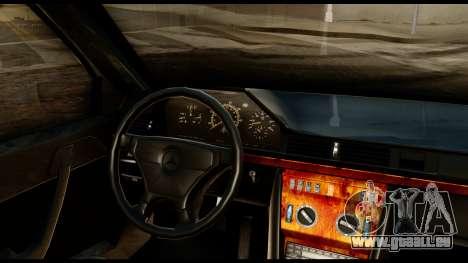 Mercedes-Benz 190E für GTA San Andreas Rückansicht