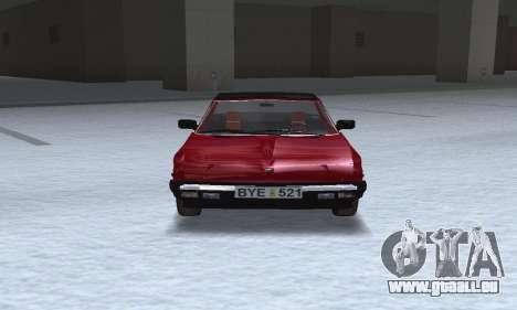 Fiat Bertone X1 9 pour GTA San Andreas vue arrière