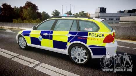BMW 325d E91 2009 Sussex Police [ELS] pour GTA 4 est une gauche