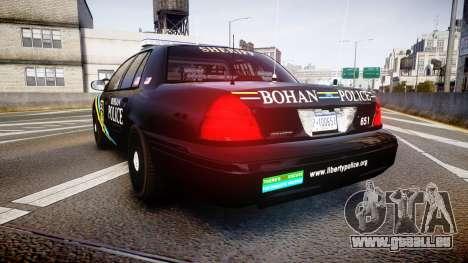 Ford Crown Victoria Sheriff Bohan [ELS] pour GTA 4 Vue arrière de la gauche