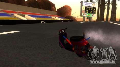 Faggio Stunt pour GTA San Andreas laissé vue